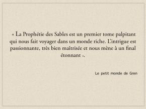 LE PETIT MONDE DE GREN PARLE DE L'ORDRE TERNE (ENBIEN)