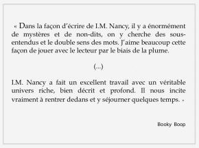 BOOKY BOOP ET L'ORDRETERNE
