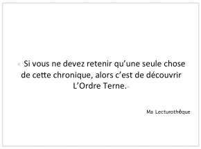 MA LECTUROTHEQUE ET L'ORDRETERNE